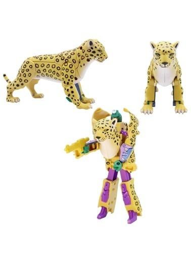 Mega Robota Dönüşen Çita Oyuncak Vahşi Hayvan Figürü Renkli
